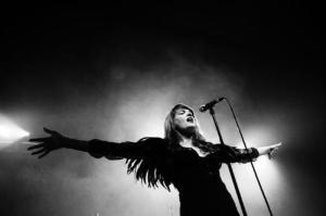 Miss Florence spreading her fairy wings so fans can soak up her glittery glow. photo via bing.com