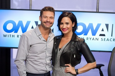Lovato and Ryan Seacrest